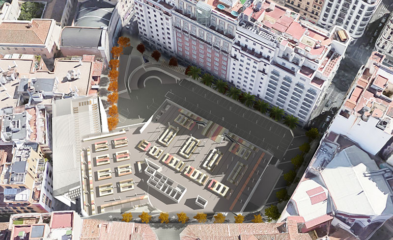 Pla Especial i Proposta de Millora d'Equipaments i Espai Públic per al sector Plaza Mostenses, Madrid. Espanya.