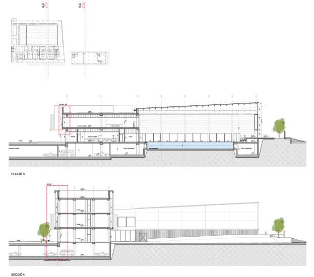 Projecte bàsic i d'execució de un edifici de piscina coberta i un edifici d'oficines