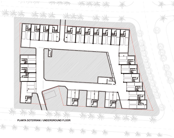 20 habitatges unifamiliars en filera i 4 habitatges unifamiliars aïllats.