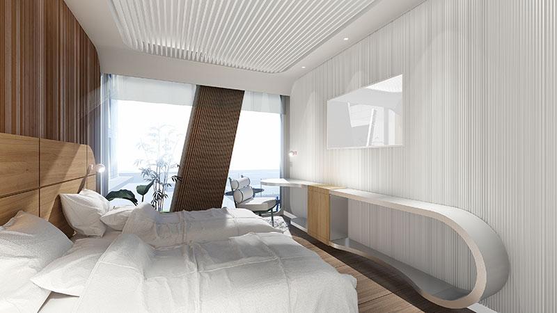 Habitació Tipus - Junior Suite. Sallés Hotel Marina Badalona, Barcelona. Espanya